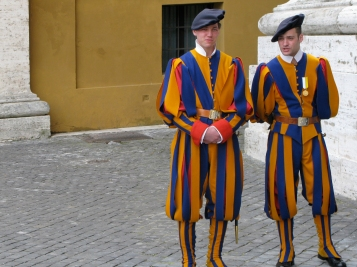 Taking photos of the Swiss Guards