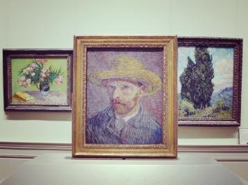 Self explaining: Vincent van Gogh, Self-Portrait with a Straw Hat, 1887.