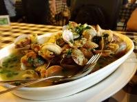 Clams @ Miramar - the sauce is rich in coriander~