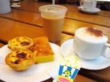 Margaret's café e Nata - classic portuguese tart with iced cofee or a cappacino