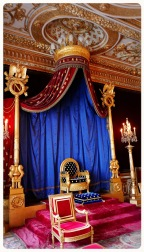 One of the highlights of the palace is the Throne Room - features the Napoleon's throne. It is the only such suite in France still in its original state.