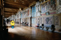 The Francis I Gallery actually served as a model for the design of the Hall of Mirrors in Versailles, and it is not difficult to recognize the resemblence!