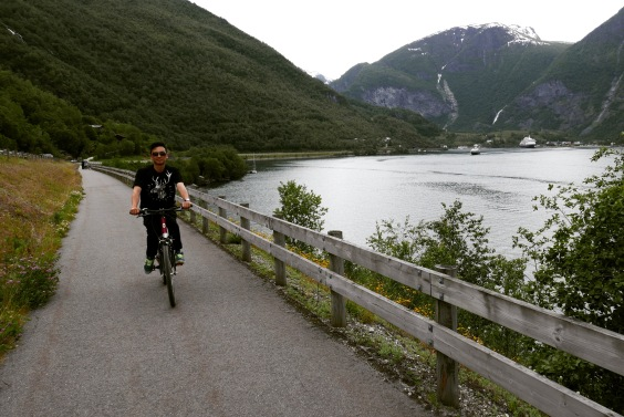 Flåm , Norway 4 - bike ride