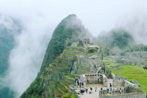 Machu Picchu - The Main Temple and Intihuatana, the sun dial