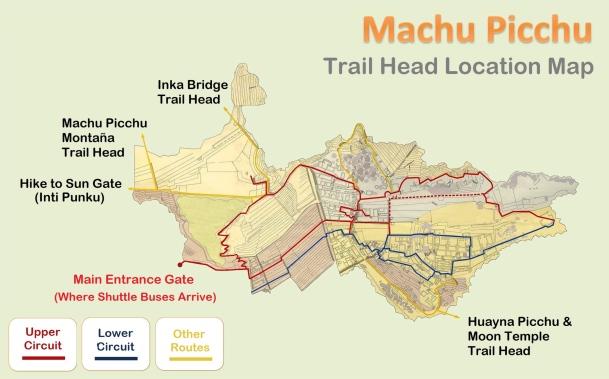 Machu Picchu - map