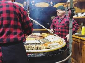 Berlin, Europe Christmas Market (Sausage)