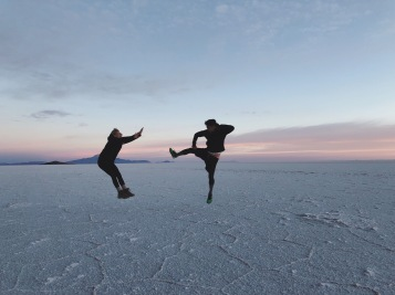 The salt flat is the perfect canvas for taking optical illusion pictures and let your mind go wild.