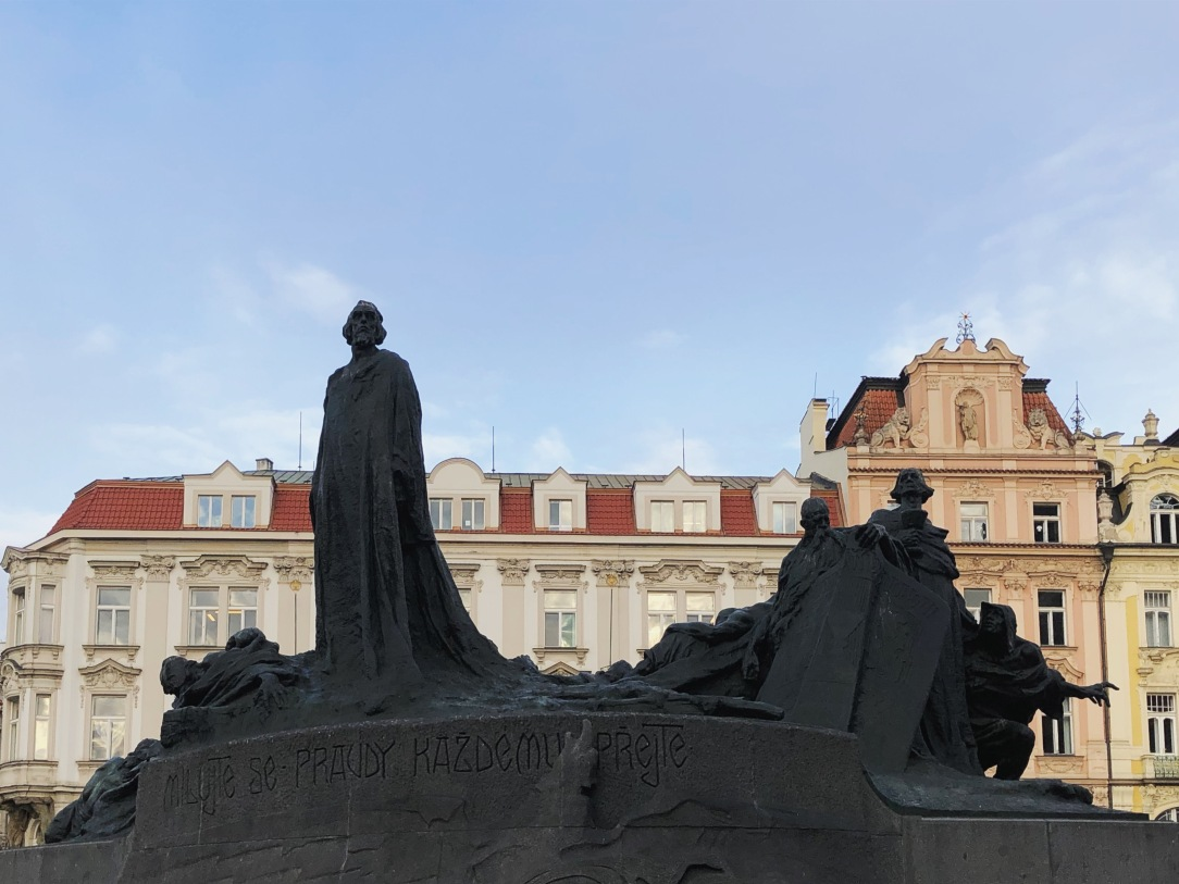 Prague Old Town Square - Jan Hus Monument